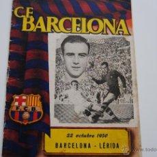 Coleccionismo deportivo: BOLETIN OFICIAL C.F.BARCELONA 1950 MANCHON. Lote 41999973