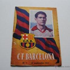 Coleccionismo deportivo: PROGRAMA OFICIAL C.F.BARCELONA 1953. Lote 42029931