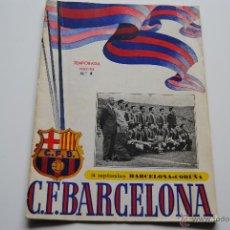 Coleccionismo deportivo: PROGRAMA OFICIAL C.F.BARCELONA 1952-53. Lote 42029980