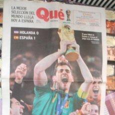 Coleccionismo deportivo: QUÉ Nº 1248 - 12 JULIO 2010 - ESPAÑA CAMPEONA DEL MUNDO. Lote 42059911