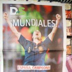 Coleccionismo deportivo: DIARIO SUR 12 DE JULIO DE 2010, SUPLMENTO ESPAÑA CAMPEONA DEL MUNDO. Lote 42059967