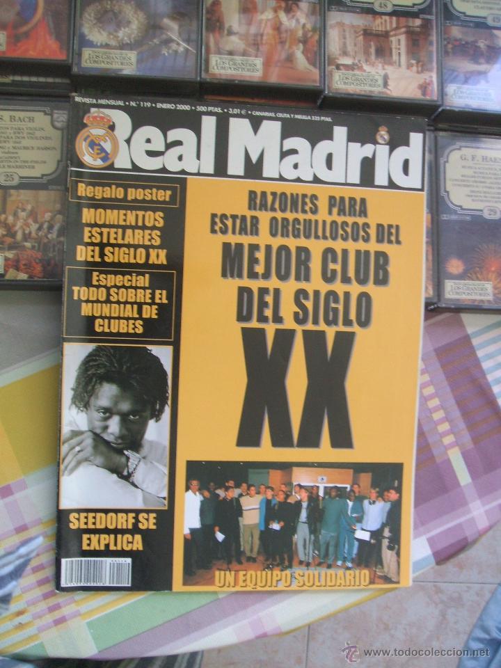 REVISTA REAL MADRID Nº 119 - ENERO 2000 (Coleccionismo Deportivo - Revistas y Periódicos - otros Fútbol)