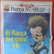 Coleccionismo deportivo: REVISTA EXTRA EL PERIODICO GUIA LIGA 97-98 - SUPLEMENTO ESPECIAL FUTBOL TEMPORADA 1997/1998. Lote 42192709