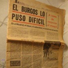 Coleccionismo deportivo: PERIODICO FUTBOL ELBURGOS LO PUSO DIFICIL AÑO 1976. Lote 42248896