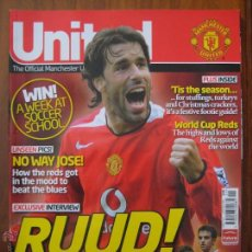 Coleccionismo deportivo: REVISTA UNITED THE OFFICIAL MANCHESTER UNITED MAGAZINE - Nº 162 - ENERO 2006 - VAN NISTELROY - PIQUE. Lote 42517970