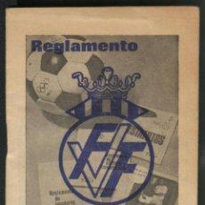 Coleccionismo deportivo: REGLAMENTO DE BOLSILLO DE LA REAL FEDERACION VALENCIANA DE FUTBOL 1970-71. Lote 42828534