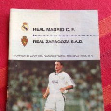 Coleccionismo deportivo: REVISTA PROGRAMA OFICIAL REAL MADRID ZARAGOZA 1998 1999. Lote 42917402