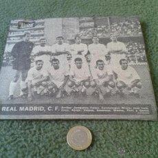 Coleccionismo deportivo: ANTIGUO RECORTE DE PRENSA AÑOS 60 REAL MADRID CLUB DE FUTBOL PERIODICO DIARIO EL ALCAZAR ZOCO GENTO . Lote 43148341
