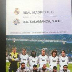 Coleccionismo deportivo: COLD - PROGRAMA OFICIAL MIERCOLES 6 DE ENERO 1999 **REAL MADRID C.F. - U.D.SALAMANCA. Lote 43236042