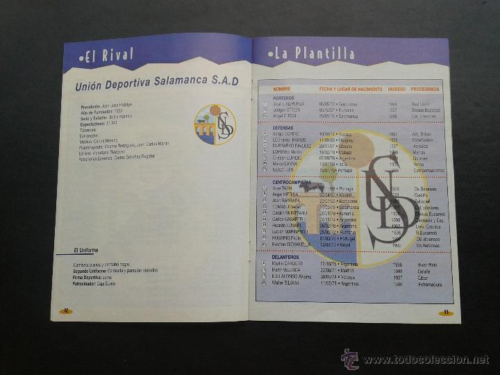 Coleccionismo deportivo: COLD - PROGRAMA OFICIAL MIERCOLES 6 DE ENERO 1999 **REAL MADRID C.F. - U.D.SALAMANCA - Foto 4 - 43236042
