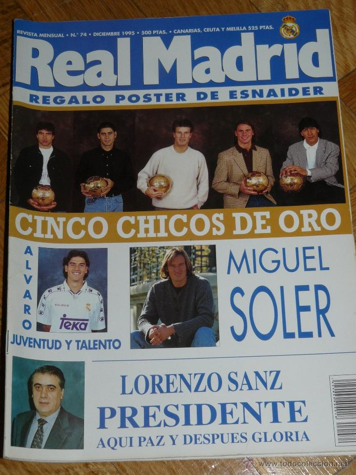 REVISTA REAL MADRID Nº 74 (Coleccionismo Deportivo - Revistas y Periódicos - otros Fútbol)