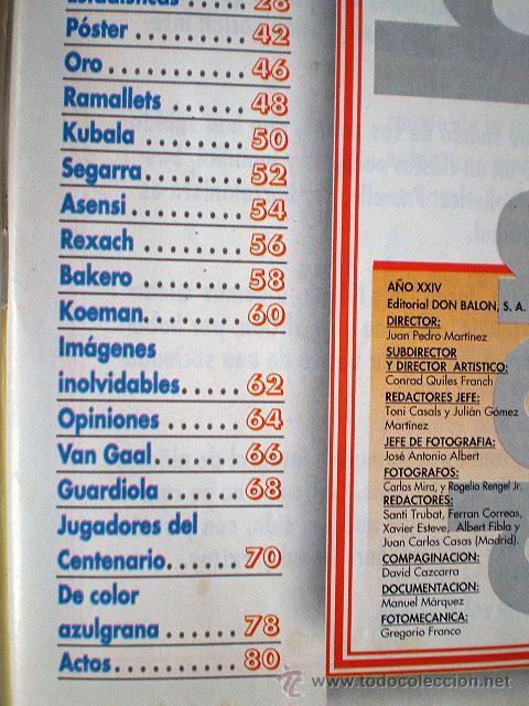 Coleccionismo deportivo: Revista don balón. Nº 45 Edición Especial CENTENARIO F.C. Barcelona 1899-1999 - Foto 8 - 43494571