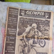 Coleccionismo deportivo: ANTIGUO PERIÓDICO OLIMPIA , AL SERVICIO DEL DEPORTE . 21 DE JULIO DE 1953 , DE 2 PESETAS-. Lote 43549365