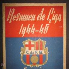 Coleccionismo deportivo: RESUMEN DE LIGA 1944-45- CAMPEÓN C.F. BARCELONA- VER FOTOS Y MEDIDAS- (CD-393). Lote 43694264