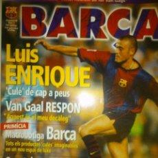 Coleccionismo deportivo: REV. FCB. BARÇA Nº 4 LUIS ENRIQUE, EPI 1998. PERFECTA. Lote 43767601