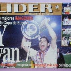 Coleccionismo deportivo: REVISTA LIDER EXTRA REAL MADRID CAMPEON DE LA SEPTIMA COPA DE EUROPA 1998 CHAMPIONS LEAGUE ESPECIAL. Lote 52375063