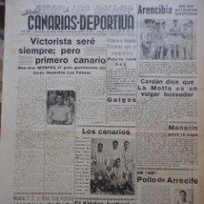 Collezionismo sportivo: CANARIAS DEPORTIVA. 22 DE SEPTIEMBRE. 1949. Lote 43985647