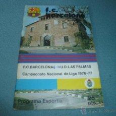 Collezionismo sportivo: LOTE 9 PROGRAMES ESPORTIUS - F.C. BARCELONA CAMPIONAT NACIONAL DE LLIGA 1976-77 RESERVADO A U*****T. Lote 53963341