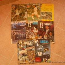 Coleccionismo deportivo: LOTE DE 8 REVISTAS VALENCIA CLUB DE FUTBOL AÑOS 70 80 90 CON ALFREDO DI ESTEFANO MUY RARAS Y ESCASAS. Lote 44265247