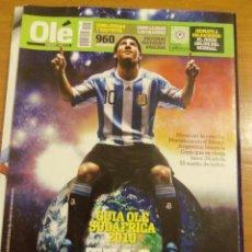 Coleccionismo deportivo: GUIA OLE SUDAFRICA 2010 - TAPA MESSI - REVISTA OLE - ARGENTINA. Lote 44308365