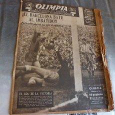 Coleccionismo deportivo: OLIMPIA Nº:14(16-12-52) ESPAÑOL-BARÇA-MANCHON-HISTORIA BARÇA-POBLET-MARY SANTPERE-TARRASA-FOTOS. Lote 44344529