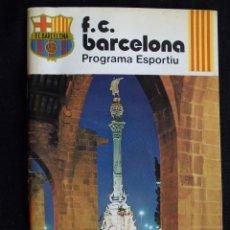 Coleccionismo deportivo: PROGRAMA ESPORTIU DEL FUTBOL CLUB FC BARCELONA F.C BARÇA CF LIGA 1977-78 TRASERA RAMOS JUGADOR BARÇA. Lote 46414989