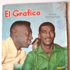 Coleccionismo deportivo: REVISTA ARGENTINA EL GRÁFICO. PELE Y DIDI, DOS GENIOS DEL FUTBOL. ABRIL 1959. Lote 47599814