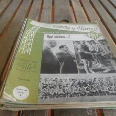 Coleccionismo deportivo: LOS 28 Nº DE LA REVISTA VERDE Y BLANCO LA REVISTA DE LA AFICION BETICA REAL BETIS AÑOS 60 . Lote 44933745