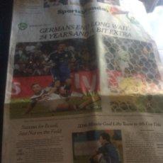 Coleccionismo deportivo: SUPLEMENTO DE DEPORTES DEL NEW YORK TIMES, 14 DE JULIO DE 2014. ALEMANIA GANA MUNDIAL DE BRASIL.. Lote 45136031