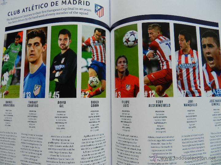 Coleccionismo deportivo: PROGRAMA OFICIAL FINAL CHAMPIONS LEAGUE 2014 GUIA DECIMA REAL MADRID CAMPEON OFFICIAL GUIDE ATLETICO - Foto 8 - 45139829