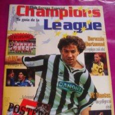 Coleccionismo deportivo: CHAMPIONS LEAGUE 1996 - REAL MADRID - BORUSSIA - AJAX - NANTES - POSTER ANDREAS MOLLER. Lote 45380772