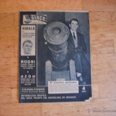 Coleccionismo deportivo: BARÇA 1959. EN PORTADA EVARISTO Y KUBALA. Lote 45477597