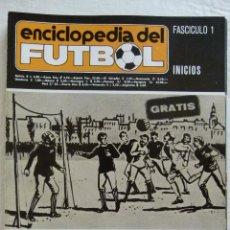 Coleccionismo deportivo: PORTADAS DE FASCICULOS ENCICLOPEDIA DEL FUTBOL RAMON MELCON Y MIGUEL VIDAL - DEL 1 AL 69. Lote 45569431