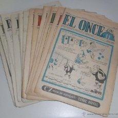 Coleccionismo deportivo: REVISTA DEPORTIVA ONCE. BARCELONA AÑO 1956. LOTE DE 27 EJEMPLARES, ENERO A JULIO. Lote 45709385