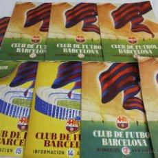 Coleccionismo deportivo: RV-78. 8 REVISTAS DE INFORMACION DEL CLUB DE FUTBOL BARCELONA. AÑOS 1954,1955 Y 1956.. Lote 45742872