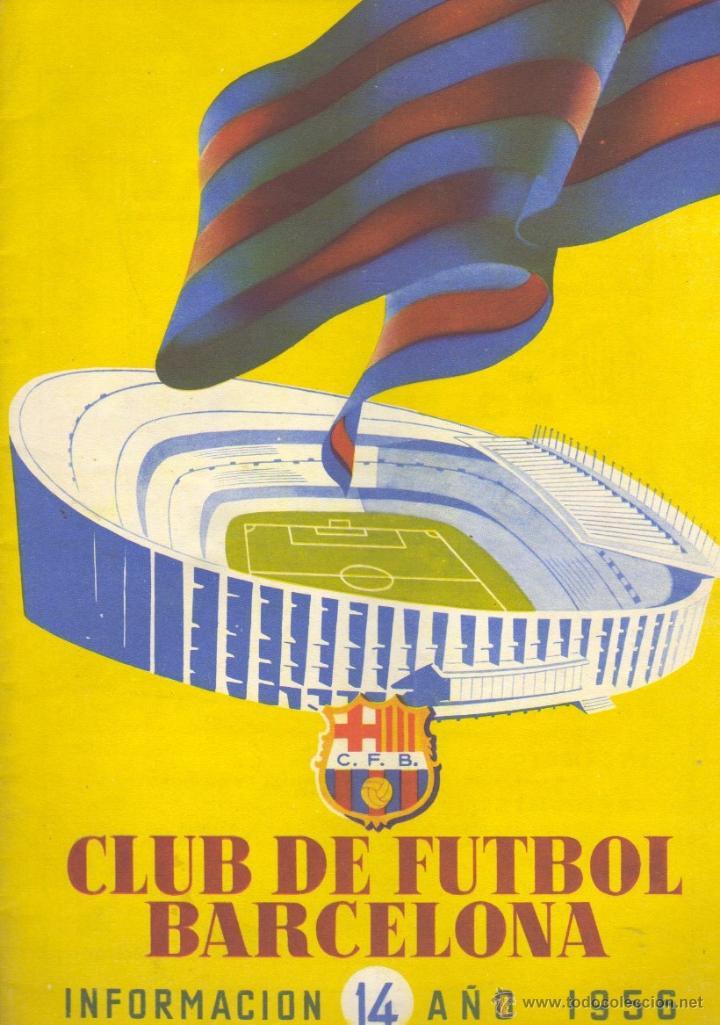 REVISTA CLUB DE FUTBOL BARCELONA - Nº 14 INFORMACIÓN AÑO1956 BARÇA FUTBOL (Coleccionismo Deportivo - Revistas y Periódicos - otros Fútbol)