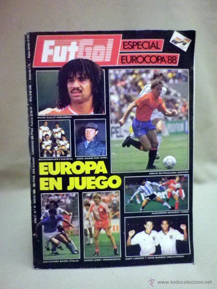 REVISTA, FUTGOL, ESPECIAL EUROCOPA 88, 1988, EUROPA EN JUEGO (Coleccionismo Deportivo - Revistas y Periódicos - otros Fútbol)