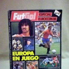 Coleccionismo deportivo: REVISTA, FUTGOL, ESPECIAL EUROCOPA 88, 1988, EUROPA EN JUEGO. Lote 45946048