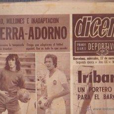 Collezionismo sportivo: PERIODICO DICEN 17-11-1971. Lote 46014339