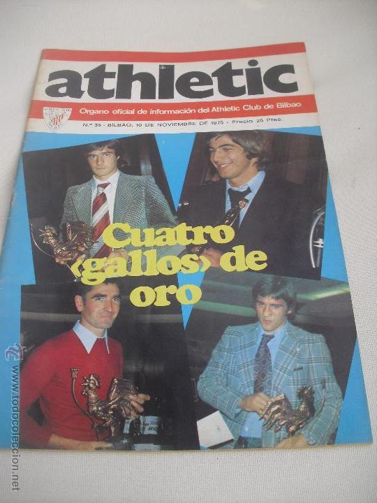 Nº 35. REVISTA OFICIAL DEL ATHLETIC CLUB DE BILBAO. 10-11-1975.POSTER IRURETA. ROJO I,URRUTIA,GOICO. (Coleccionismo Deportivo - Revistas y Periódicos - otros Fútbol)