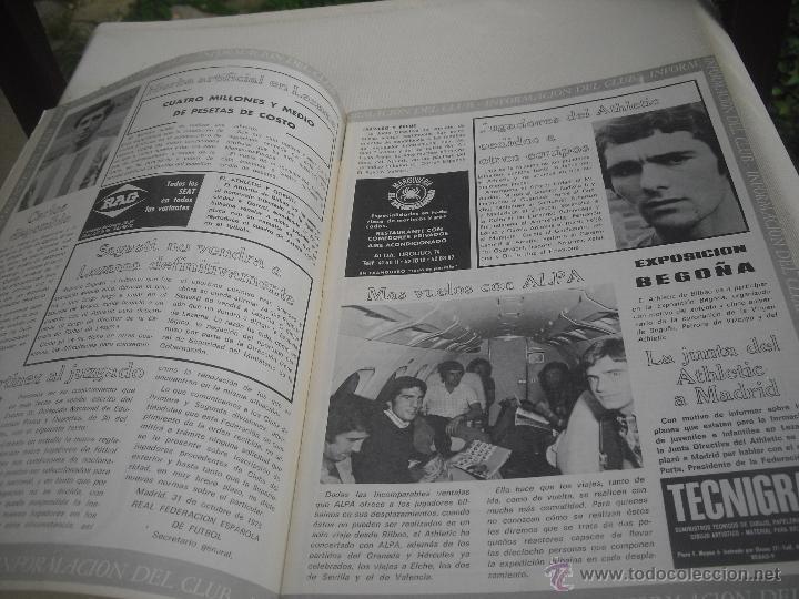 Coleccionismo deportivo: Nº 35. Revista Oficial del Athletic Club de Bilbao. 10-11-1975.Poster Irureta. Rojo I,Urrutia,Goico. - Foto 2 - 46103638