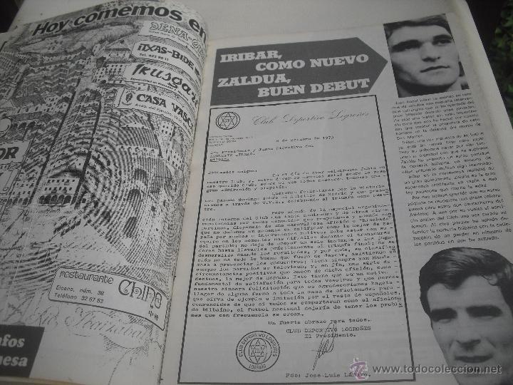 Coleccionismo deportivo: Nº 35. Revista Oficial del Athletic Club de Bilbao. 10-11-1975.Poster Irureta. Rojo I,Urrutia,Goico. - Foto 3 - 46103638