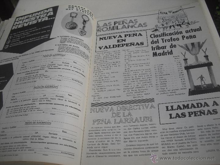 Coleccionismo deportivo: Nº 35. Revista Oficial del Athletic Club de Bilbao. 10-11-1975.Poster Irureta. Rojo I,Urrutia,Goico. - Foto 4 - 46103638