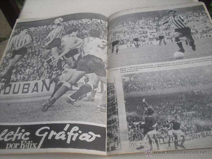 Coleccionismo deportivo: Nº 35. Revista Oficial del Athletic Club de Bilbao. 10-11-1975.Poster Irureta. Rojo I,Urrutia,Goico. - Foto 6 - 46103638