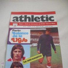 Coleccionismo deportivo: Nº 6. REVISTA OFICIAL DEL ATHLETIC CLUB DE BILBAO. 10-06-1973.POSTER IRIBAR.ROJO II,VILLAR,URIARTE... Lote 46103986