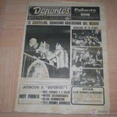 Collectionnisme sportif: PERIÓDICO DEPORTES FINAL COPA DEL REY 1973 ATHLETIC - CASTELLÓN. Lote 46122525