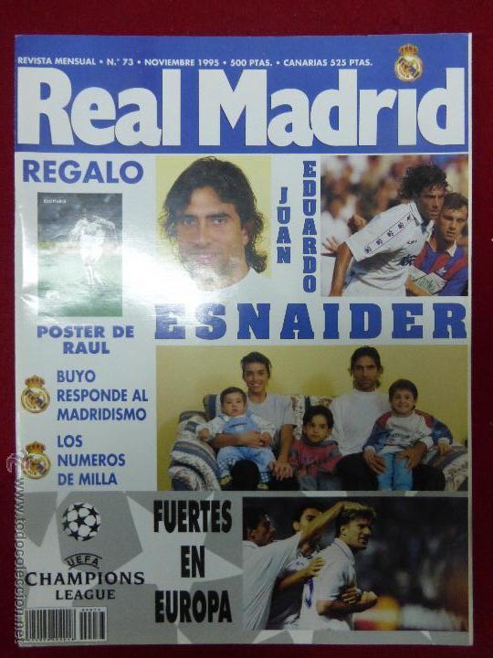 REVISTA REAL MADRID Nº 73 NOVIEMBRE AÑO 1995 (Coleccionismo Deportivo - Revistas y Periódicos - otros Fútbol)