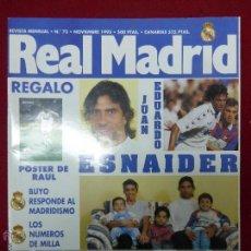 Coleccionismo deportivo: REVISTA REAL MADRID Nº 73 NOVIEMBRE AÑO 1995. Lote 46136932