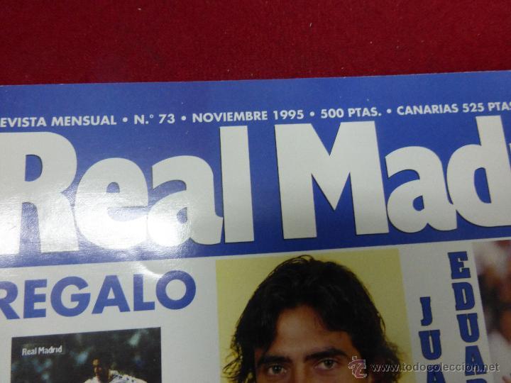 Coleccionismo deportivo: REVISTA REAL MADRID Nº 73 NOVIEMBRE AÑO 1995 - Foto 2 - 46136932