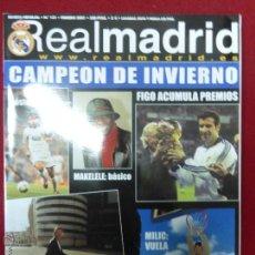 Coleccionismo deportivo: REVISTA REAL MADRID Nº 131 FEBRERO AÑO 2001 - PÓSTER DE RAÚL. Lote 46139164